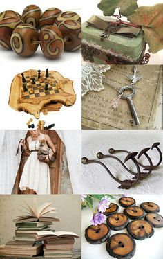 'Rustic Beauty' Etsy treasury, featuring my lampwork beads