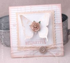 gotta redo this with Stampin' Up!'s scallop square and butterfly die