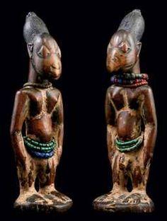 yoruba art | ... DE STATUETTES YORUBA, IBEJI | NIGERIA | African & Oceanic Art Auction