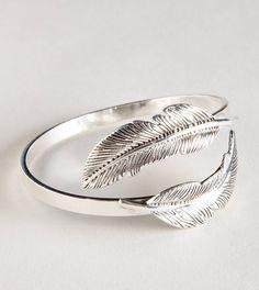 AEO Leaf Cuff, $17.50, Silver, American Eagle
