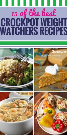 115 Crockpot Weight Watchers Recipes. Weight Watchers is great for helping you meet your weight loss goals, but why not get even more help by using your crockpot for preparing weight-friendly recipes? From chicken casserole for dinner to healthy, guilt-free desserts, get lots of ideas to fill your table (and your tummy) without breaking your diet.