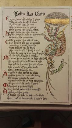 """"""" Volta la carta """" by Fabrizio de Andrè - Maria Clara's ink design"""