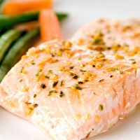 Best salmon I've cooked at home, by Bob Harper