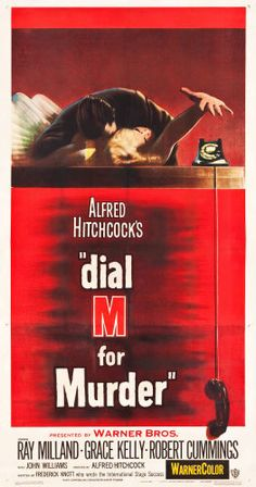 """Movie Posters:Hitchcock, Dial M for Murder (Warner Brothers, 1954). Three Sheet (41.25"""" X79"""").. ..."""