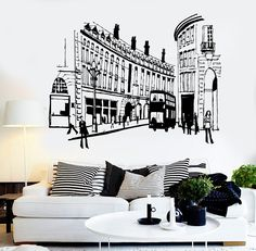 Vinyl Wall Decal England London Street UK English Decor Stickers Mural (ig3654)