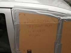 Funny notes on car windshields... this should be good.