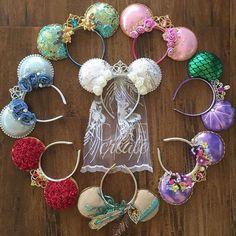 new ideas wedding disney diy minnie mouse Disney Bachelorette, Princess Bachelorette Party, Princess Party, Diy Disney Ears, Disney Mickey Ears, Diy Mickey Mouse Ears, Micky Ears, Disney Collection, Disney Headbands