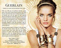 Meet the Guerlain Experts on 14 August 2013 at PARCOS, Phoenix Marketcity, Velachery | Events in Chennai | mallsmarket.com