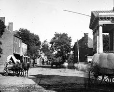 Warrenton, Va. Street in front of courthouse; by Timothy H. O'Sullivan in August 1862.    Library of Congress image.