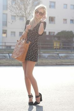 Black Stars Print Dress