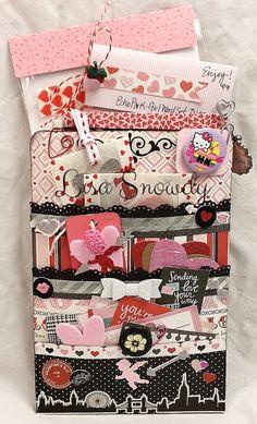 Adventures in Paperland: Valentine Loaded Envelope Envelope Tutorial, Diy Envelope, Pocket Envelopes, Card Envelopes, Scrapbook Paper Crafts, Scrapbooking, Valentine Crafts, Valentines, Snail Mail Pen Pals
