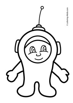 Funny Spaceman Coloring Pages For Kids Printable Free