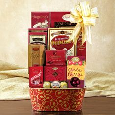 Fruits and chocolate gift basketi really like the addition of a free shipping holiday cheer gourmet gift basket negle Image collections