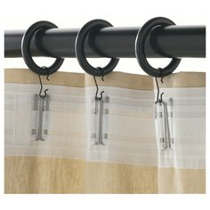 Hidden Curtain Clips Using Header Tape To Make The Top Sturdier And
