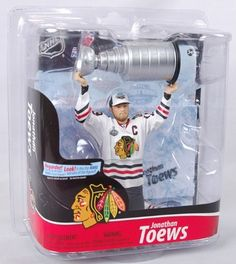 NHL Chicago Blackhawks McFarlane 2011 Series 28 Jonathan Toews (2) Action Figure by McFarlane Toys. $17.85. Blackhawks captain Jonathan Toews led his squad to victory in the 2010 Stanley Cup Finals, delivering Chicago their first Stanley Cup in 49 years! His new figure honors their effort, and features Toews hoisting the Stanley Cup