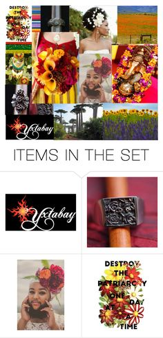 """""""Destroy the Patriarchy"""" by yxtabay ❤ liked on Polyvore featuring art, Flowers, jewelry, Earth, polyvorepoc and Yxtabay"""