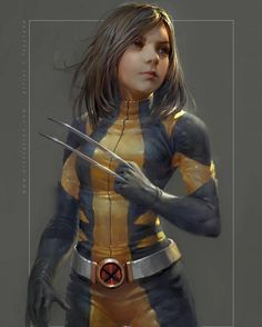 "6,723 Likes, 54 Comments - Ryan Unicomb (@ryan_m_unicomb) on Instagram: ""Dafne Keen as All New All Different Wolverine by artist Fajareka Setiawan. This is great! I'd watch…"""