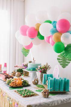 MOANA THEMED BIRTHDAY PARTY Moana Birthday Party Theme, 2nd Birthday Party For Girl, Moana Themed Party, Luau Birthday, Flamingo Birthday, Luau Party, Birthday Party Invitations, Birthday Ideas, Beach Party