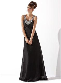 d53978dcde7b Empire Scoop Neck Floor-Length Chiffon Evening Dress With Ruffle Beading -  JJsHouse. Ulla Koldsø · Kjoler osv.