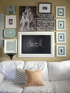 So many different ideas for displaying art and creating wall arrangements