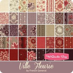 Ville Fleurie Layer Cake French General for Moda Fabrics - Ville Fleurie - Moda Fabrics | Fat Quarter Shop