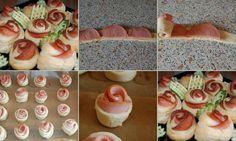 Feestelijk hapje: Hamroosjes van ham en bladerdeeg