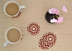 Cup of Stitches: Coffee Flower Coasters