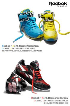 #Reebok × #KeithHaring CLASSIC LEATHER #Sneakers #art