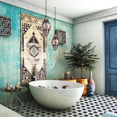 A delightful #tiled setting with #Moroccan vibes sets the scene for a relaxing day. Spied this beauty on @en.beaute's amazing IG feed! // #archilovers #architettura #bohemianstyle #designhounds #designer #designinterior #designinspiration #designdeinteriores #homeinterior #homedesign #instadecor #interiordesign #interiors #interiorinspo #luxurious #idcdesigners #bathroomdesign #pattern #tileometry #tiles #tile #tiledesign #tilelove #tilestyle #tilework #tileaddiction...