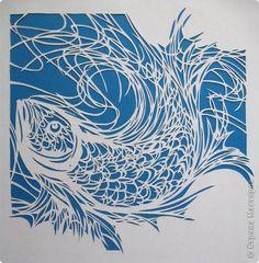Картина панно рисунок Вырезание Рыбка_Lois Cordelia Бумага фото 1