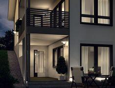 Piklaksen korkeat ikkunat näyttävät kauniilta myös illan hämärässä. ✨  #window #ikkunat #decor #home #house #inspiration House, Home, Homes, Houses