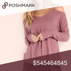 Coming Soon • Cold Shoulder Sweater Get ready for Fall with this Off the shoulder style sweater! Material: Polyester. More information coming soon. Like and comment size to reserve. •• when the item arrives I will determine the price for it, but it will not exceed $40. Tops