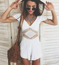 round sunnies + fringe + rompers #bp