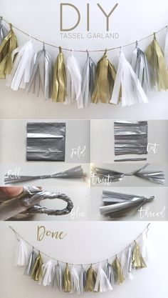 Yes, I finally made one of these adorable tassel garlands, and will probably make a million more! They are perfect for everything, baby shower, birthday party, or the holidays! I made this white, silver, and gold tassel garland to add a little pizazz to my holiday decor. This DIY took me about an hour to …
