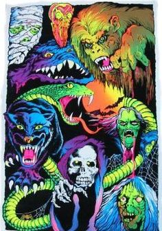Black light Nightmare poster 1977  This was hanging on the wall in the Game room