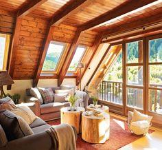 13 Creative Coffee Table Alternatives for Your Living Room Design Loft, Design Case, House Design, A Frame Cabin, A Frame House, Cabin Homes, Log Homes, Coffee Table Alternatives, Beautiful Living Rooms