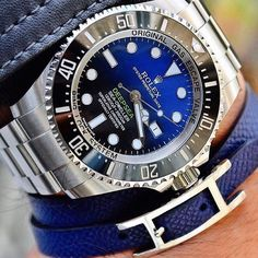 Deadliest Rolex (Deepsea Sea-Dweller 44mm) and such a combo with the matching Hermes bracelet. @youcanneverhaveenough sir you slay! by wristgamers
