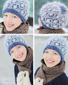Interesting layered look. This might be fun to do with the single-ply cashmere. Crochet Fabric, Knit Or Crochet, Lace Knitting, Crochet Hats, Knitting Needles, Lace Patterns, Stitch Patterns, Knitting Patterns, Crochet Patterns