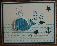 Monisbastelbergerwelt: Ge-wal-tig starke Grüße Rettet Die Wale, Stampin Up, Crafts, Craft Ideas, Whale, Stamping, Friendship, Ideas, Manualidades