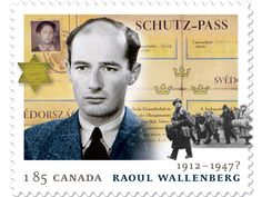 Nazi prison camp survivor, Judith Kopstein was surprised to see her  picture on the top left of Canada Post's Raoul Wallenberg stamp.