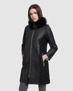 17 mejores imágenes de abrigos de cuero 17c1dc494cd