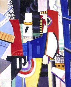 """Fernand Leger :Esquisse pour """"La Ville"""", 1919  Oil on canvas"""