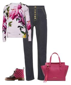 """""""Untitled #5802"""" by lovetodrinktea ❤ liked on Polyvore featuring Chanel, E L L E R Y, Ted Baker and Salvatore Ferragamo"""