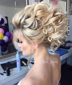Make up & Hair von mir # - Coafuri - Frisuren Wedding Party Hair, Wedding Hair And Makeup, Bridal Hair, Hair Makeup, Hairstyle Wedding, Bride Hairstyles, Hair Upstyles, Quinceanera Hairstyles, Hair Styles