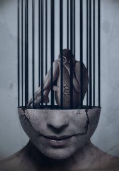 Trapped inside your own mind. #photography #cage #emotion #art