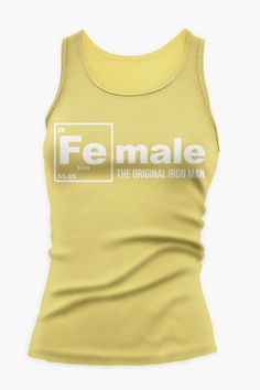 FEmale the Original Iron Man Fitness / Workout Tank Top in Yellow