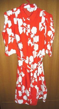 http://www.bonanza.com/listings/-398-Diane-Von-Furstenberg-KARIN-HALO-RED-BUD-silk-shirt-dress-6-sold-out-/210299025
