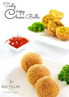 Should I opt for something healthy or something comforting ? Why not both ! Try our Cheese Balls at Raj villas.