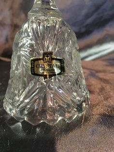 Gorgeous Zejecar Bell  24% Lead Crystal Glass  Yugoslavia  Beautiful little 'tinkle' ring  Approx Measures 5.5 tall x 2.25 inch diameter
