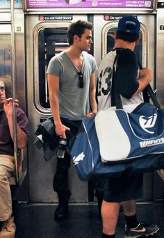 Paul Wesley Rides the Subway on June 5, 2012 The subway just got a lot sexier! Vampire Diaries heartthrob Paul Wesley turns heads while taking the train on a low-key visit to NYC.